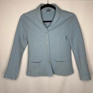 Eileen Fisher Medium wool blue jacket blazer
